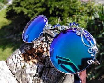 Retro Round Sunglasses ~ Wirewrap Sunglasses