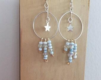 Star dangle earings
