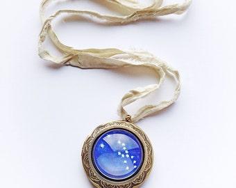Taurus Constellation Locket Necklaces