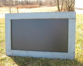Distressed winter grey hanging chalkboard rustic chalk board message center blackboard office black board
