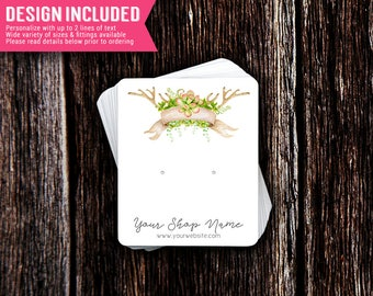Earring Cards | Jewelry Cards | Necklace Cards | Jewelry Display Cards | Earring Holder | Jewelry Display | Succulents | Design Included