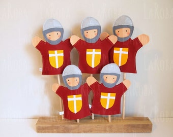 Hand puppet: medieval soldier