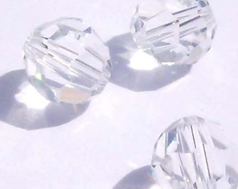 Swarovski Crystal Beads Round Crystal Beads 5000 CLEAR CRYSTAL -- Available in 3mm,  4mm, 6mm and 8mm