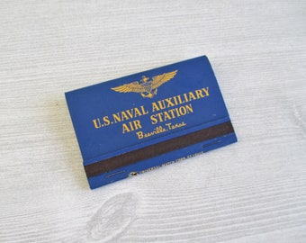 Vintage World War II U. S. Auxillary Air Station Matches - Beeville, Texas