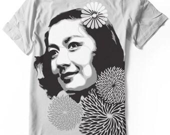 Setsuko Hara T-shirt Hand airbrushed with stencils - Tokyo Story - Ozu - Japan actress