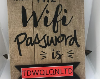 Wifi Plaque, Personalised Wifi Code Password