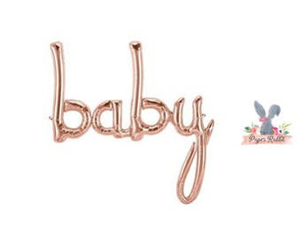 Baby Girl Balloons. Baby Girl Shower Decorations. Gender Reveal Decor. Party Decorations. Rose Gold Decorations. Rose Gold Baby Shower