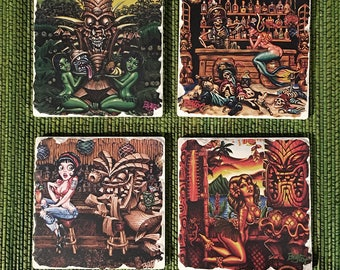 BigToe Art Sandstone Coaster Set #1