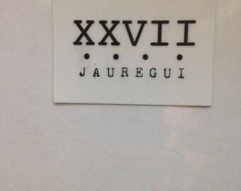 CLEAR Lauren Jauregui's XXVII tattoo