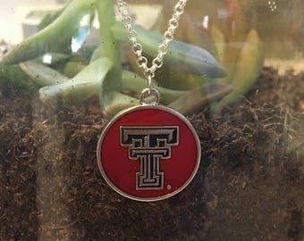 Texas Tech University jewelry, Red Raiders necklace, college necklace, college jewelry