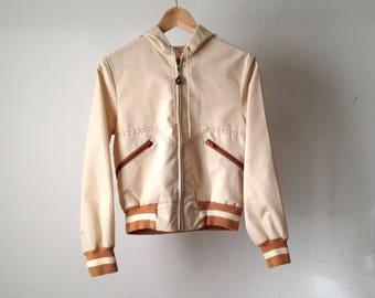 80s CREAM color block rain parka northwest oxford PARKA size small women's jacket coat
