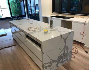 Calacatta Quartz Kitchen Worktop