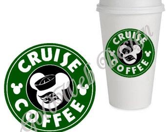 Disney Cruise Reusable Coffee Cup, Mug Inspired