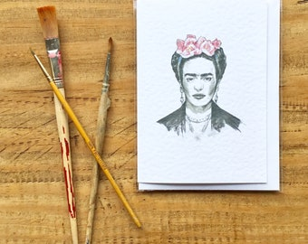 Frida, Greeting Card
