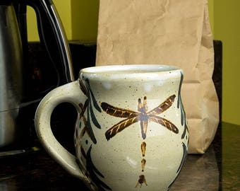 Mug - Dragonfly with Pattern