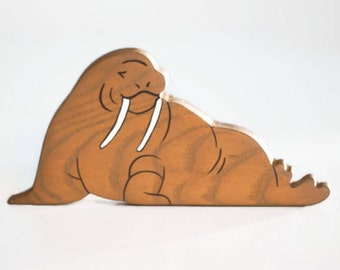 Wooden Walrus toy Arctic animals North animal figure