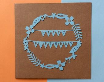 SALE Happy Birthday Papercut Card