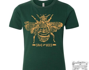 KIDS Save the Bees - Premium vintage soft Tee T-Shirt Fine Jersey T-Shirt (+Colors) - FREE Shipping