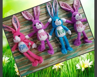 Kids easter gift etsy personalized bunny basket fillers personalized easter gifts easter basket kids easter gifts negle