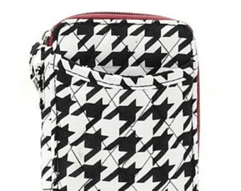 Houndstooth Quilted Wallet w/ Monogram Option