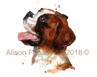 Custom Dog PORTRAIT in Watercolor - 8x10 inches