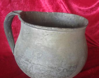 Very Old Ottoman Antique Hand Made Authentic Brass Tankard #1660