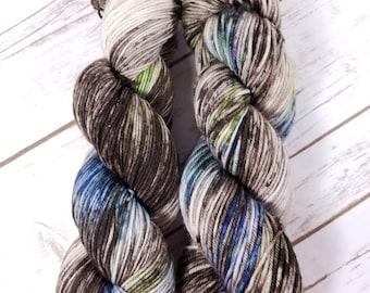 Truffle Hunting. Hand dyed yarn.