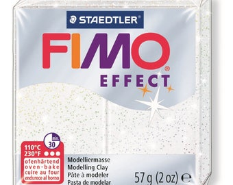Fimo Effect 57 g - white metallic N 52 - Ref 68020052 - until the stock!