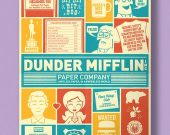 Dunder Mifflin Retro Poster | The Office