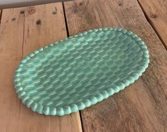 Aqua Beaded Soap Dish
