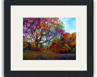 Afternoon Light - Framed Art Print / psychedelic landscape