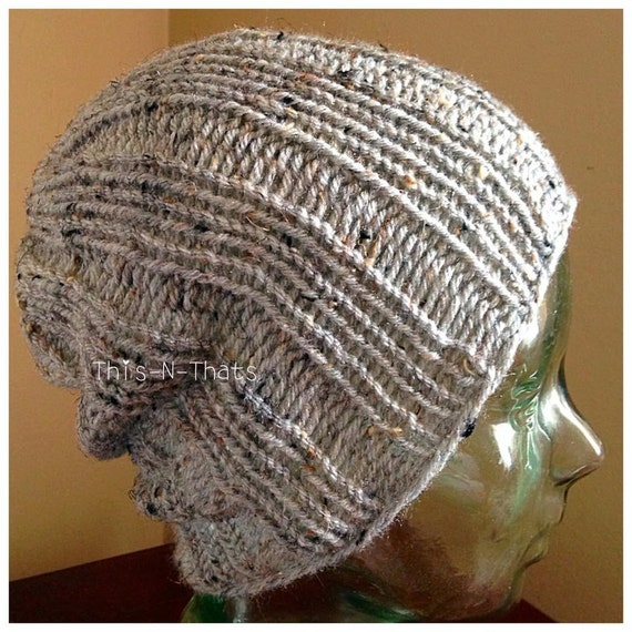 Loom knitting pattern hat mens womens slouchy beanie skull cap loom knitting pattern hat mens womens slouchy beanie skull cap brimless with video tutorial dt1010fo