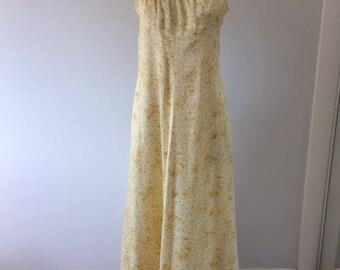 Beautiful Handmade Vintage Silky Satin Maxi Dress