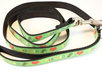Rescue Dog Leash - Rescued with love