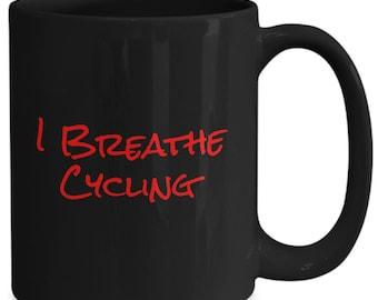 I breathe cycling - coffee mug