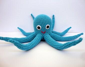 Amigurumi octopus, plush octopus toy, crocheted octopus/devilfish, MADE TO ORDER