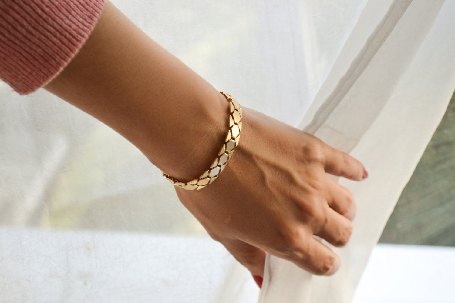 nugget bracelet chunky gold pure raw store ring