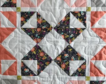 handmade quilt | starburst quilt | baby quilt | throw quilt | lap quilt | READY TO SHIP!!!