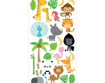 Doodlebug Design At The Zoo Collection Scrapbook Icons Cardstock Stickers