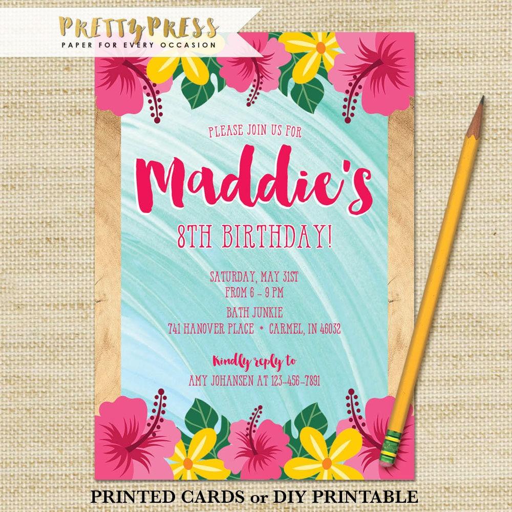 MOANA Invitation Moana Birthday Party Invitation Kids Luau