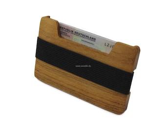Credit Card Wallet | Wooden wallet in minimalist design | Business Card Holder, Credit Card Case | Money clip | possible engraving