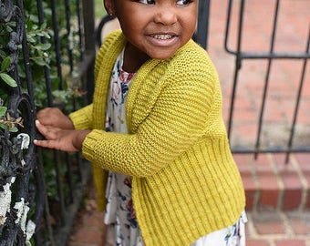 make your own Little Sister Cardigan (DIGITAL KNITTING PATTERN) baby toddler child tween teen