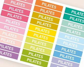 Überschrift Header Sticker, Sticker, Tagesordnung Notebook Zeitschrift Aufkleber, Aufkleber, Erinnerung Fitness Pilates