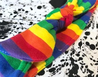 Rainbow Baby Headband, Rainbow Headband, Baby Headband, Rainbow Baby, Knot Headband, Rainbow Baby Girl