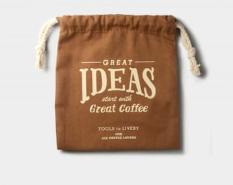 Tools to Liveby Drawstring Idea Coffee camel Limited Edition for Traveler's Notebook passport size