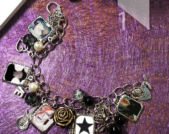 Labyrinth Themed Black Star Charm  Bracelet & Necklace