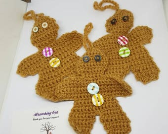 Handmade Christmas Gingerbread men Decoration