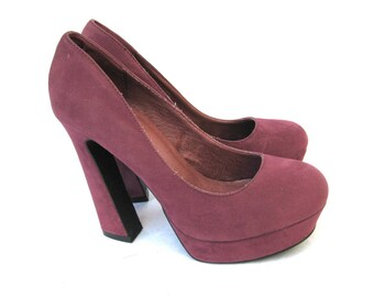 BIANCO Women's Pink Suede High Heels Pumps Size 6,5us/4uk/37eu