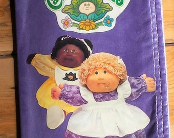 Upcycled Repurposed Sewing Pattern Cabbage Patch 80's Zipper Pouch