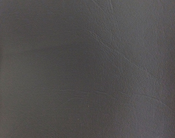 """Grey Vinyl Fabric Faux Leather Pleather Upholstery 54"""" Wide By the Yard"""